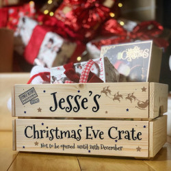 Personalised Christmas Eve Crate Santa Sleigh - Black Text