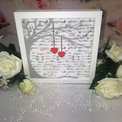 Personalised Love Word Script Frame