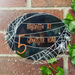 Personalised Spiders Web House Plaque