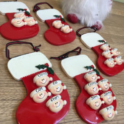 Image of Personalised Christmas Stockings With Heads