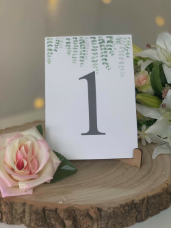 Eucalyptus Wedding Table Numbers
