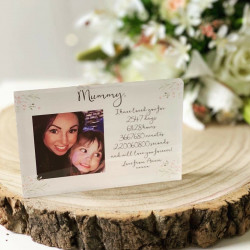 Personalised Floral Photo Timeline Block