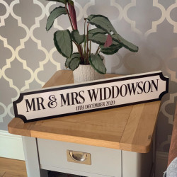 Personalised COLOUR BORDER & TEXT Train/Street Sign