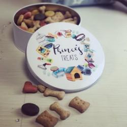 Image of personalised pet treat tin