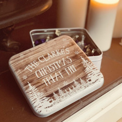 personalised Woodland Treat Tin