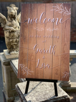 Personalised Wooden Foliage Welcome Wedding Sign