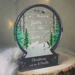 Personalised Wonderland Snowglobe Style Themed Ornament