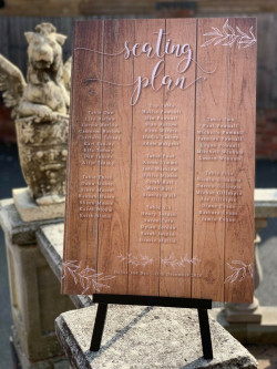 Personalised Wooden Foliage Table Plan Wedding Sign