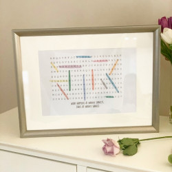 Personalised Family Word Search Frame