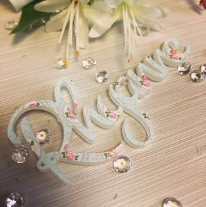 Personalised Acrylic Printed Table Names