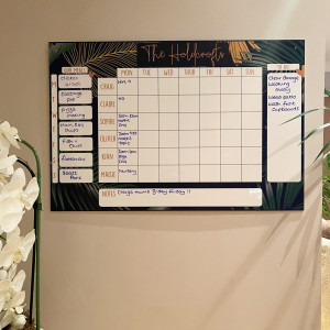 Personalised Green Leaf Family Planner