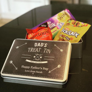 Personalised Arrows And Stars Treat Tin - GUARANTEED FOR FATHER'S DAY DELIVERY