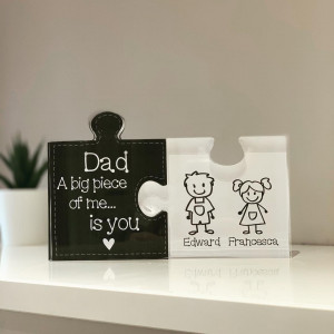 Personalised Acrylic Jigsaw Pieces - A Big Piece Of Me Is You