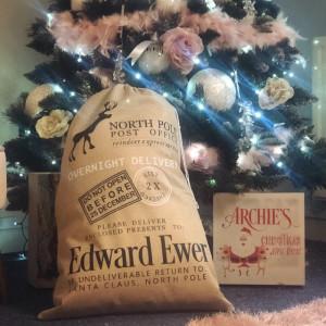 Personalised Christmas Present Sack - Hessian