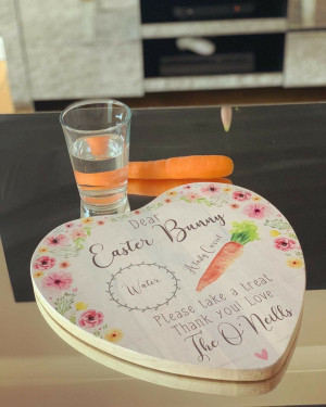 Personalised Easter Bunny Treat Board