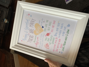 Personalised Reasons Why We Miss You....print