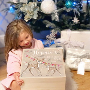 Personalised Wooden Baby Deer Christmas Eve Box
