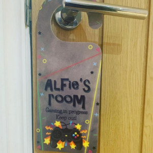 Personalised Gaming Door Hanger