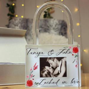 Personalised Locked In Love Padlock