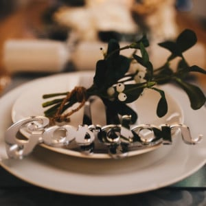 Personalised Mirrored Christmas Dinner Table Names