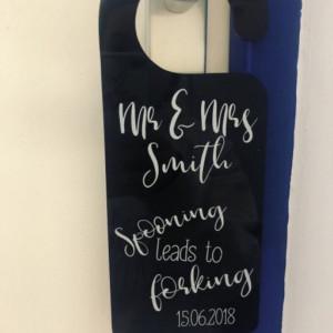 Personalised Wedding Night Door Hanger