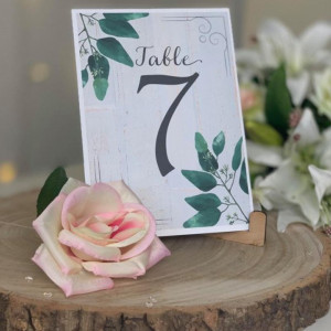 Olive Leaf Wedding Table Numbers