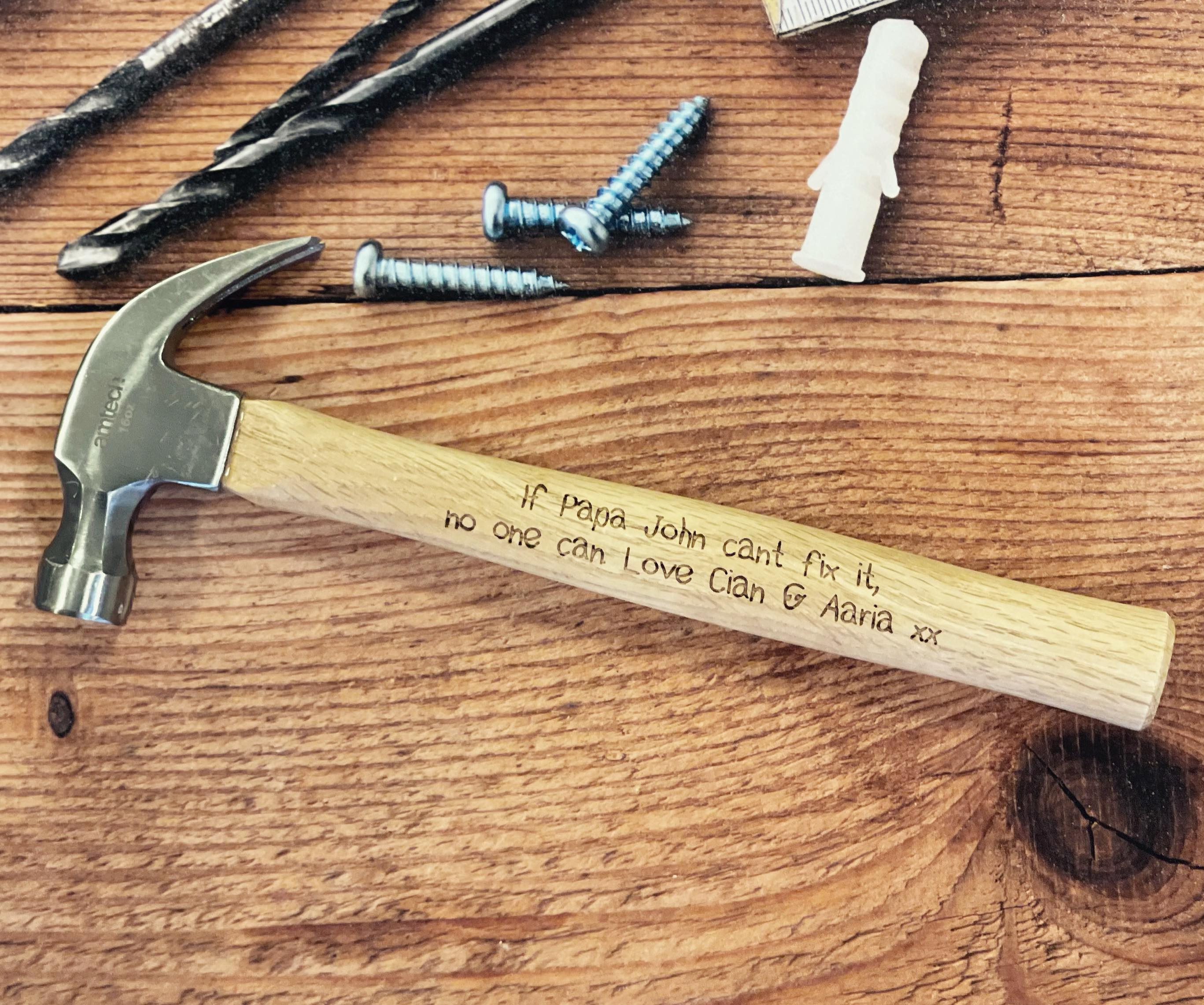 Personalised 16oz Claw Hammer (Childlike Font)