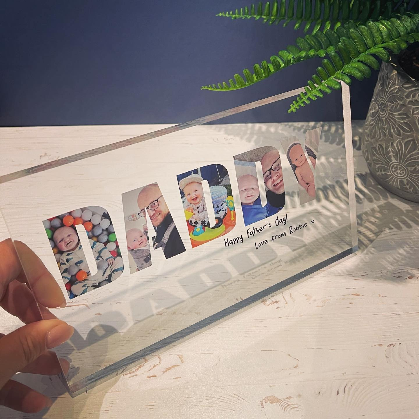Personalised Photo Letter Block Large - Daddy - GUARANTEED FOR FATHER'S DAY DELIVERY