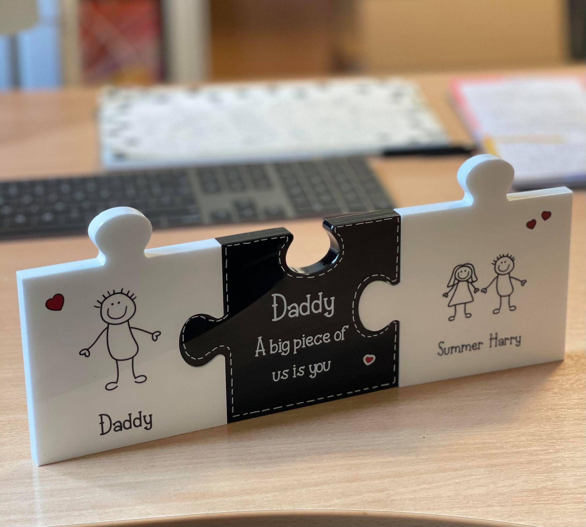 Personalised 3 Pieces Jigsaw - Fathers Day  - GUARANTEED FOR FATHER'S DAY DELIVERY