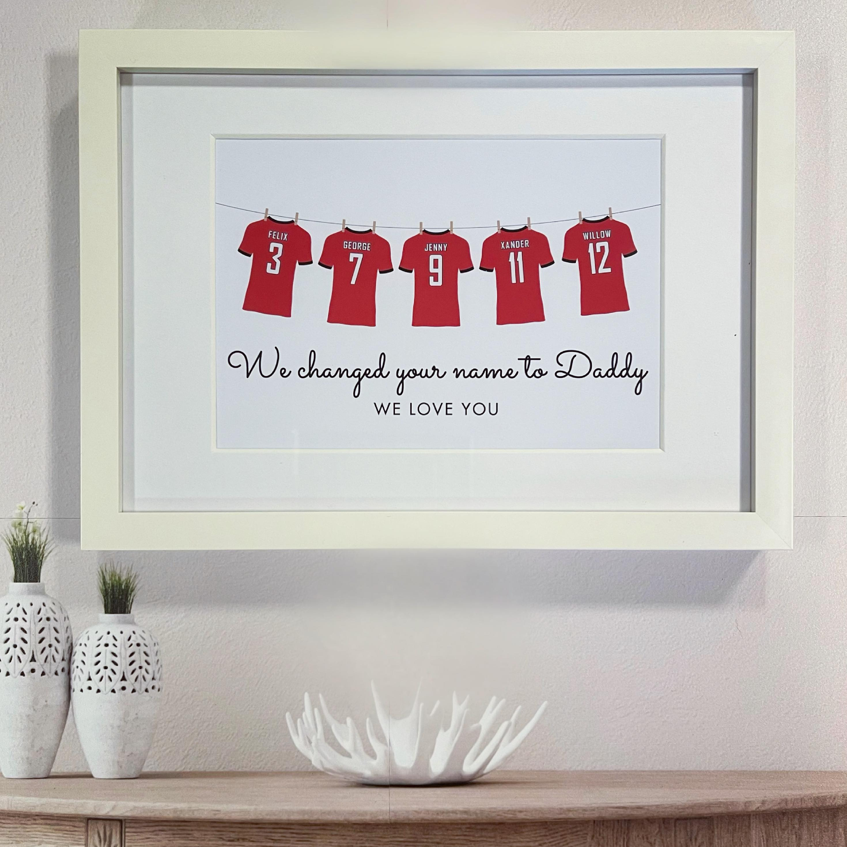 Personalised Football Shirts Print - GUARANTEED FOR FATHER'S DAY DELIVERY