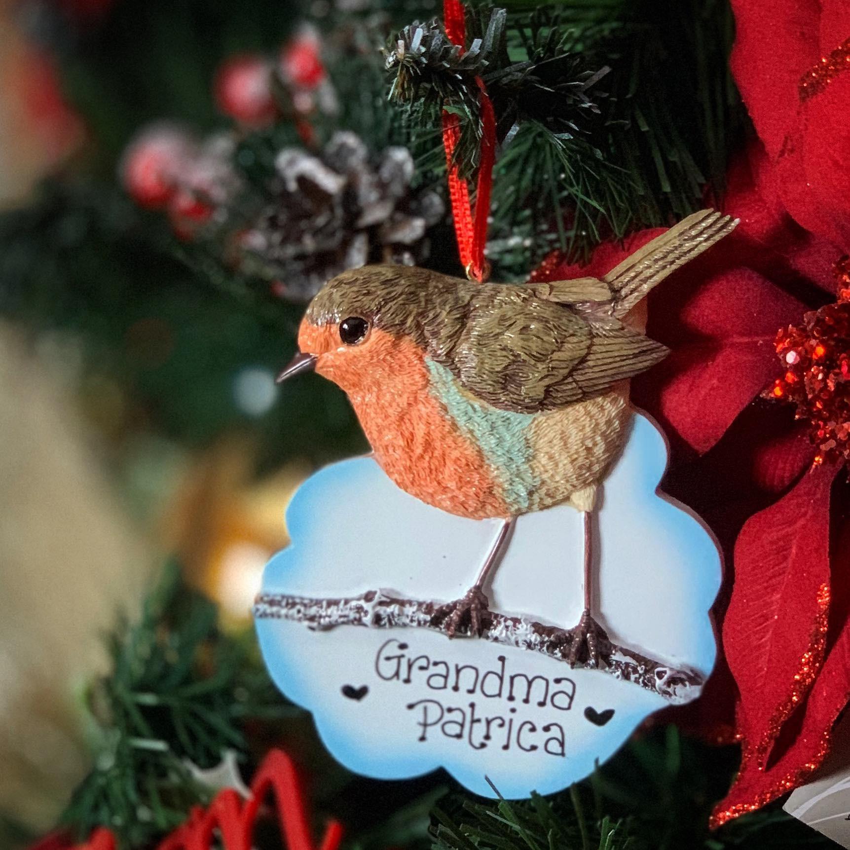 Personalised Robin Hanging Decoration