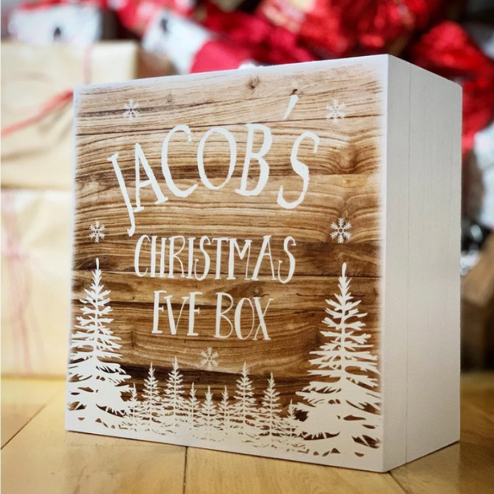 Personalised White Scandi Theme Christmas Eve Box **PRE ORDER NOW**