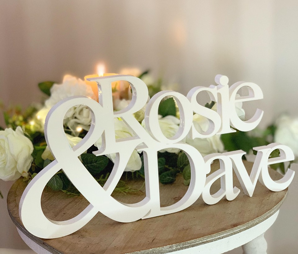 Personalised Freestanding Couple Names
