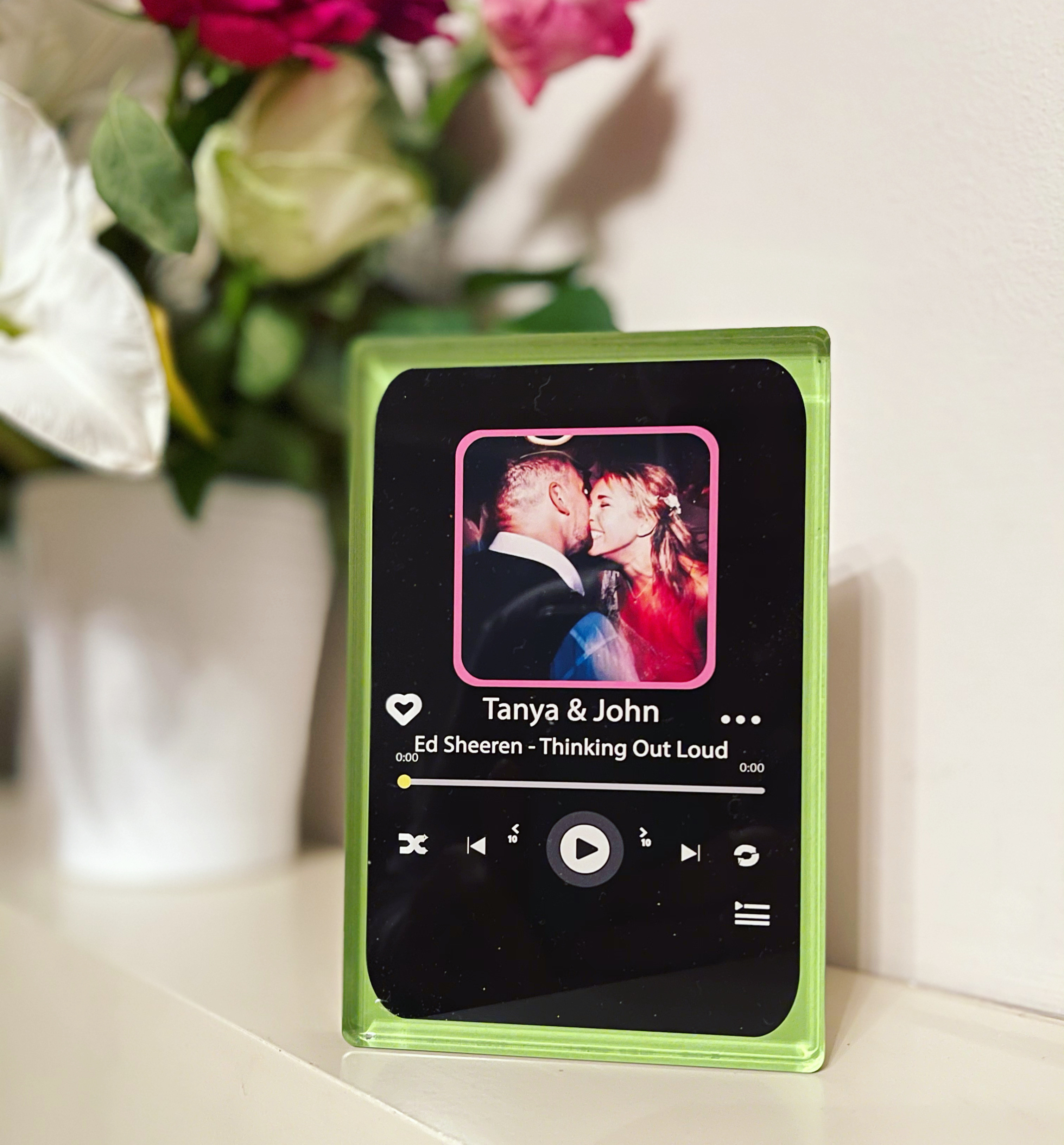 Personalised Spotify themed Acrylic Block