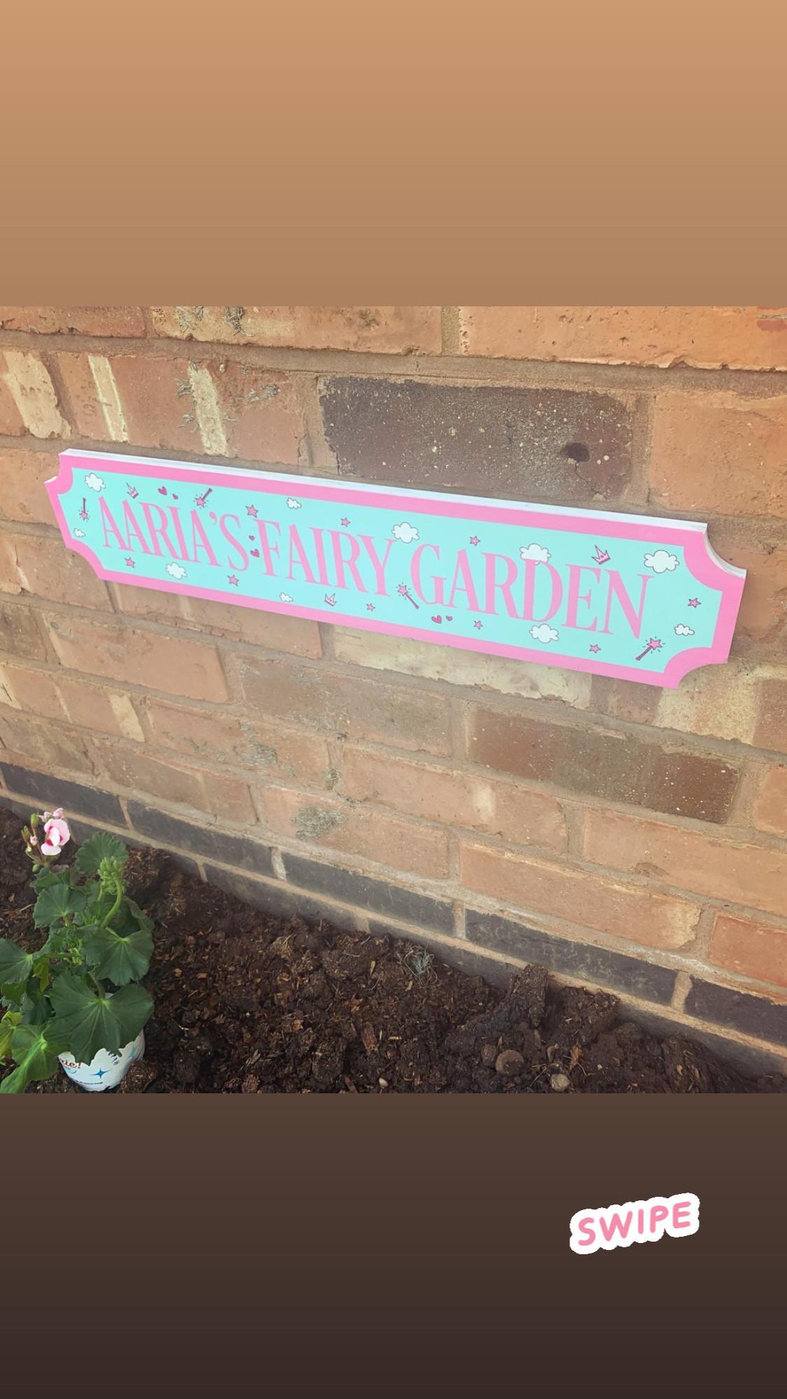 Personalised Freestanding Train/street Fairy Sign