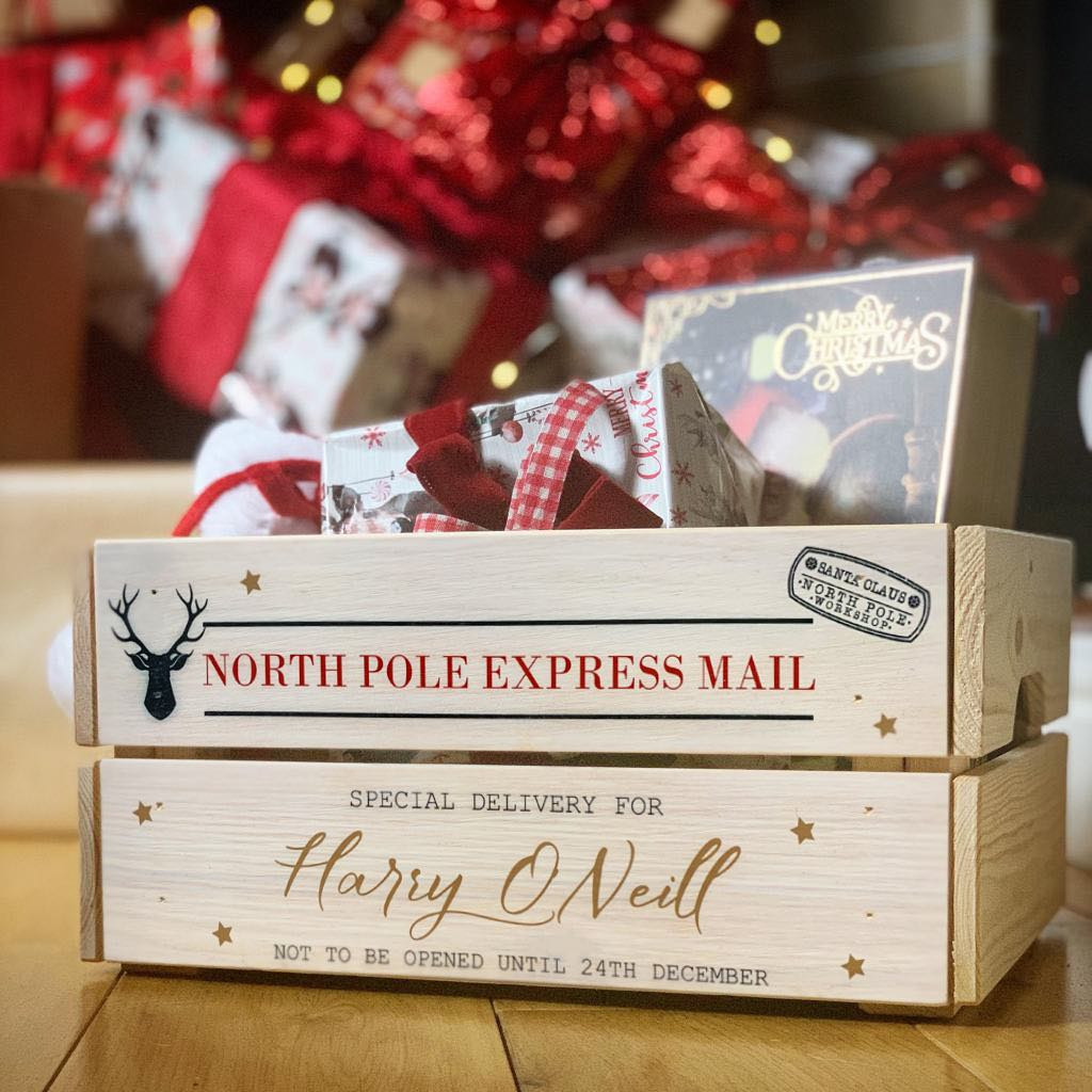 Personalised Christmas Eve Crate North Pole Express