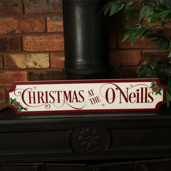 Personalised Red Christmas Train/street Sign 0