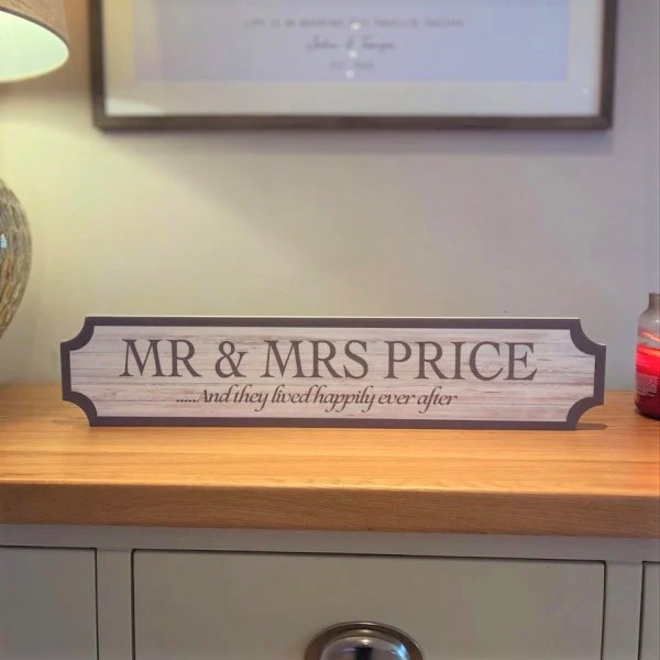 Personalised Wooden Effect Train/street Sign
