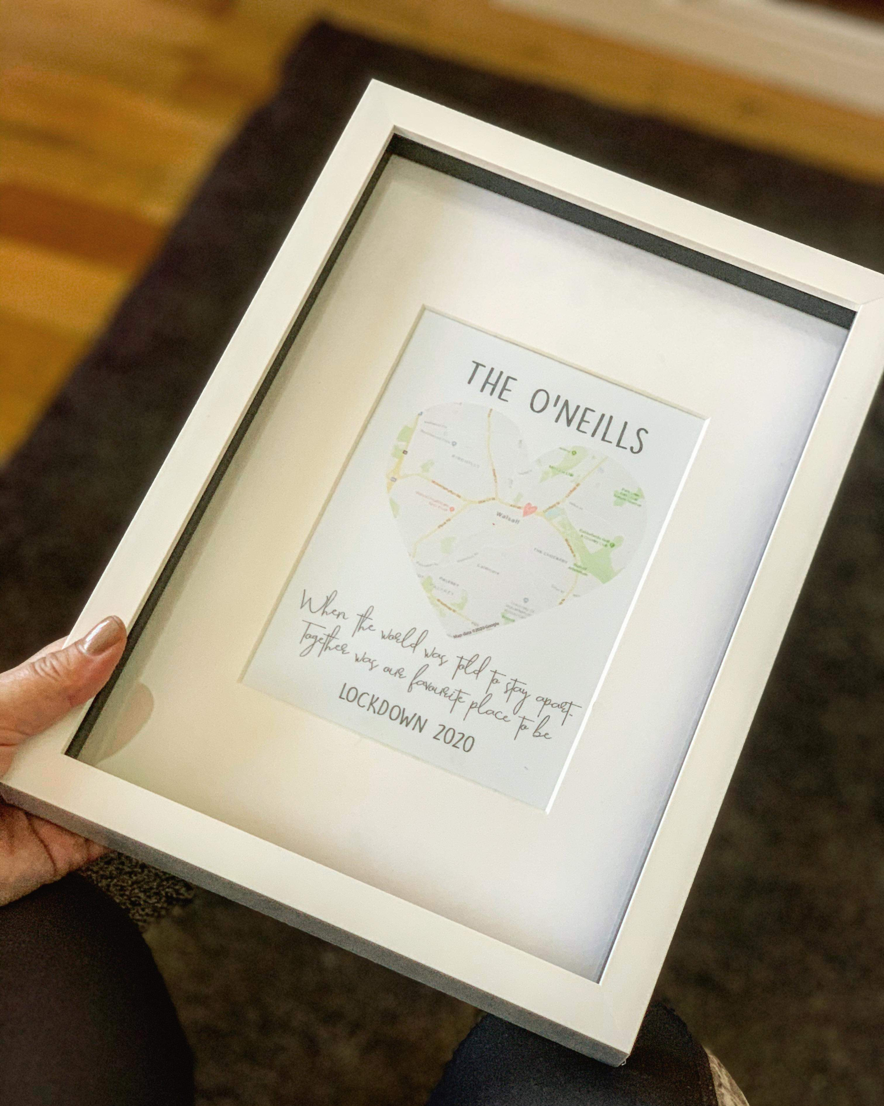 Personalised 'Together Was Our Favourite Place' Map Print