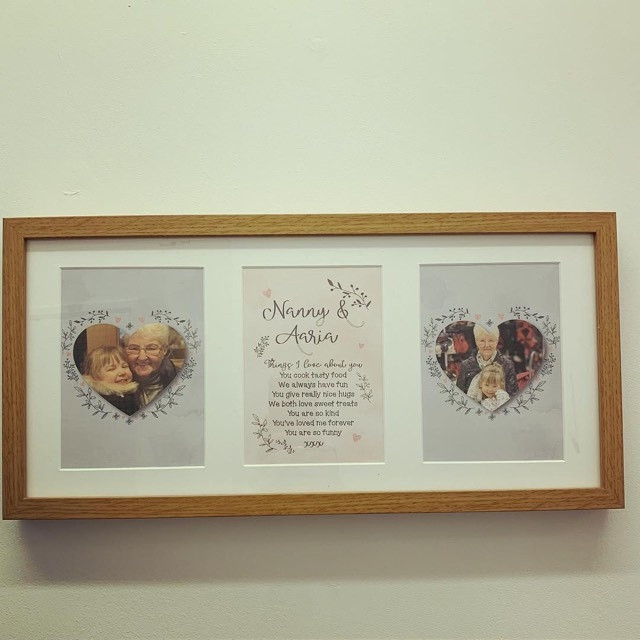 Personalised Mothers Day Triple Frame ***NOT GUARANTEED FOR MOTHER'S DAY***