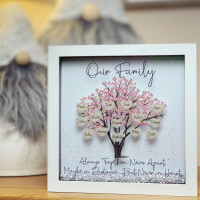 Image of personalised family tree frame