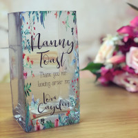 Image of Garden Themed Personalised Glass Vase