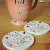 Image of Personalised Bucket List Ceramic Coasters (set of 2)