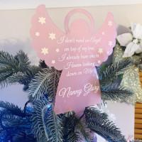 Personalised Chirstmas Angel Tree Topper