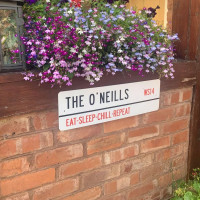 Personalised Family Postcode Street Sign 2