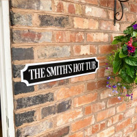 Personalised WHITE BORDER & TEXT Train/street Sign 4