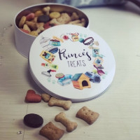 Image of personalised pet treat tin