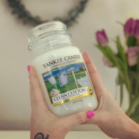 Yankee Candle - Large Jar Candle Clean Cotton