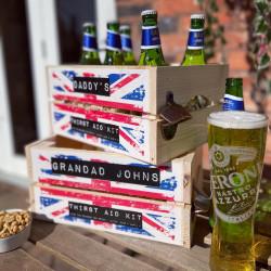 Personalised Union Jack Crate