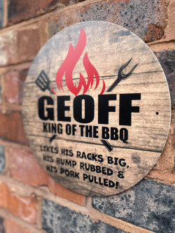 Personalised BBQ outdoor sign
